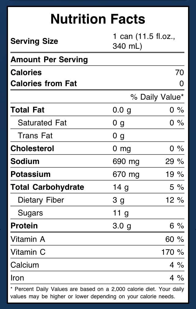 V8 Nutrition